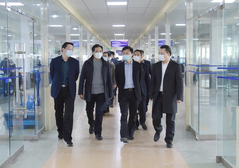 Gao Wendong, secretary and director of the Party group of Chuzhou Bureau of statistics and his delegation visited Anhui Tiankang group for investigation